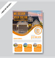 real estate business flyer template vector image