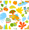 seamless pattern background with fall season vector image vector image
