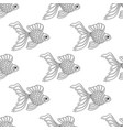 seamless pattern of line art goldfish vector image vector image