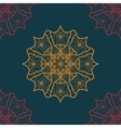 Seamless Print in Oriental Style on deep blue vector image vector image
