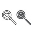 searching for love line and glyph icon amour and vector image vector image