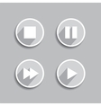 Set of different media icons vector image vector image