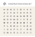 Set of Round Line Construction Icons vector image vector image