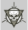 Skull and geometric elements vector image vector image