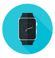 Smart Watch Flat Circle Icon vector image vector image