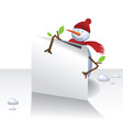 snowman letter vector image vector image