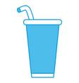 soda cup beverage vector image vector image