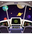 Spaceship cartoon interior vector image