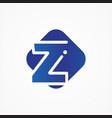 Square symbol letter z design minimalist