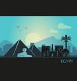 stylized landscape egypt at sunset vector image