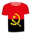 t-shirt flag angola vector image vector image