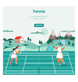 tennis tournament web banner design vector image
