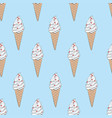 texture with hand drawn sketch ice cream vector image