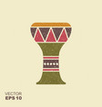 traditional folk ethnic drum icon with scuffed vector image vector image