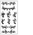 vector floral set vector image vector image