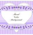 Vintage frame in shape of a heart vector image vector image