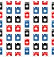 Washing machine symbol seamless pattern vector image