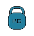 weight lifting equipment isolated icon vector image vector image