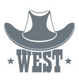 west logo vintage style vector image