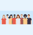 young people different nationalities and races vector image
