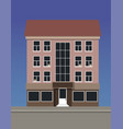 a multi-storey apartment house made of pink brick vector image vector image