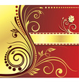 Abstract Royal Floral Design vector image vector image