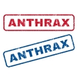 Anthrax Rubber Stamps vector image vector image