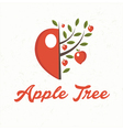 apple tree with apple fruit vector image vector image