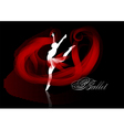 ballet background vector image vector image