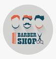 Barber shop emblem vector image vector image