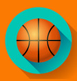 basketball flat icon sport vector image vector image