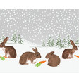 border winter landscape forest with snow vector image vector image