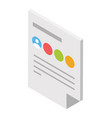 business document vector image