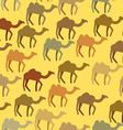 Camels seamless pattern Background of desert vector image