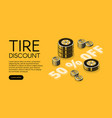 car service tire store discount vector image vector image