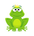 cartoon prince frog isolated vector image vector image