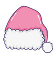 christmas hat cartoon vector image