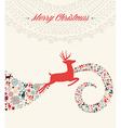 Christmas reindeer greeting card vector image vector image