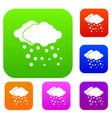 cloud and snow set collection vector image vector image