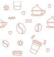 coffee seamless pattern background logo icon vector image vector image