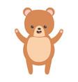 cute brown bear character cartoon vector image vector image