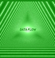 data flow visualization triangle vector image vector image