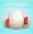 easter egg set happy easter painted egg vector image vector image