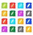 edit icon set vector image vector image