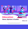 education page design vector image vector image