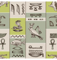 Egyptian hieroglyphs seamless pattern vector image