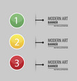 elements of infographics in modert art style vector image