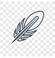 feather concept linear icon isolated on vector image