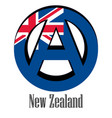 flag of new zealand of the world in the form of a vector image
