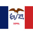 flag of the usa state of iowa vector image vector image